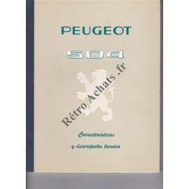 Peugeot 504 caracteristicas y descripcion tecnica